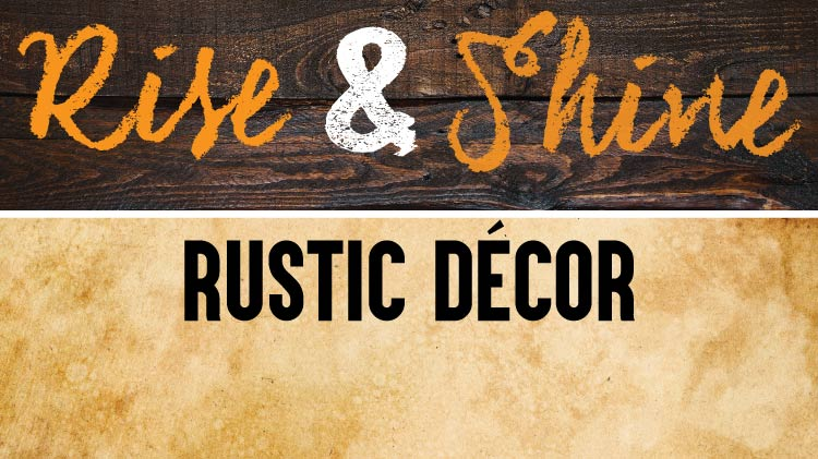 Art and Hobby Shop: Rustic Decor