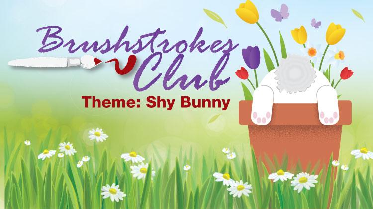 Brushstrokes Club: Shy Bunny!