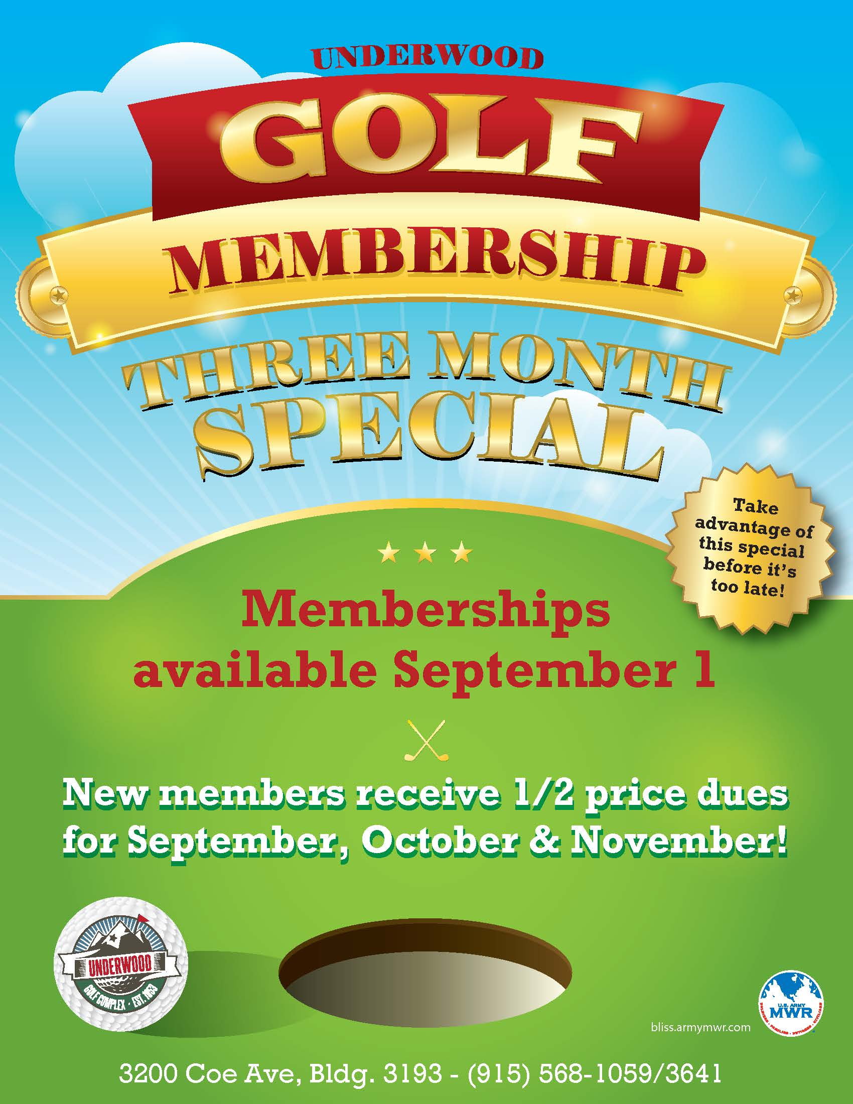Golf Membership Special