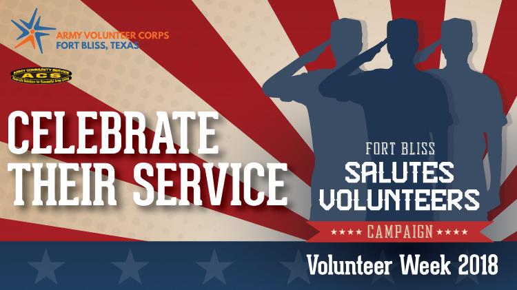Fort Bliss Salutes Volunteers!