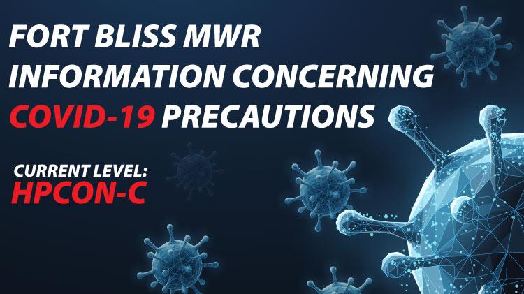 Fort Bliss MWR COVID-19 precautions