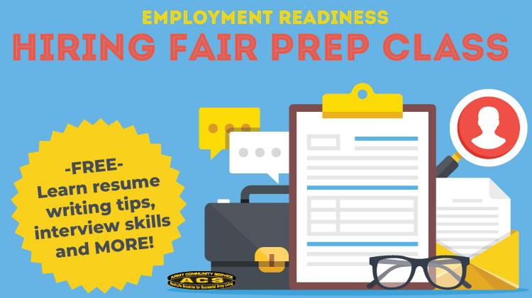 Employment Readiness Hiring Fair Prep Class!