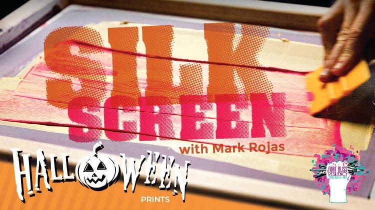 Art & Hobby Shop Silk Screen Halloween with Mark Rojas!