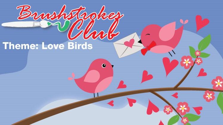 Brushstrokes Club: Love Birds