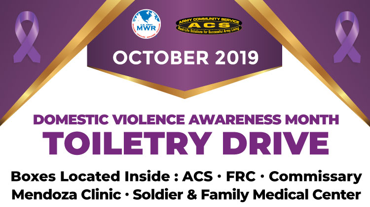 Domestic Violence Awareness Month Donation Drive