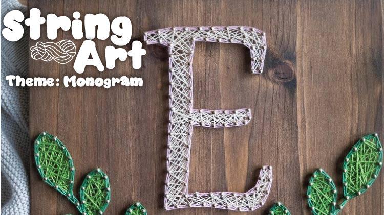 String Art: Love Letter Monograms