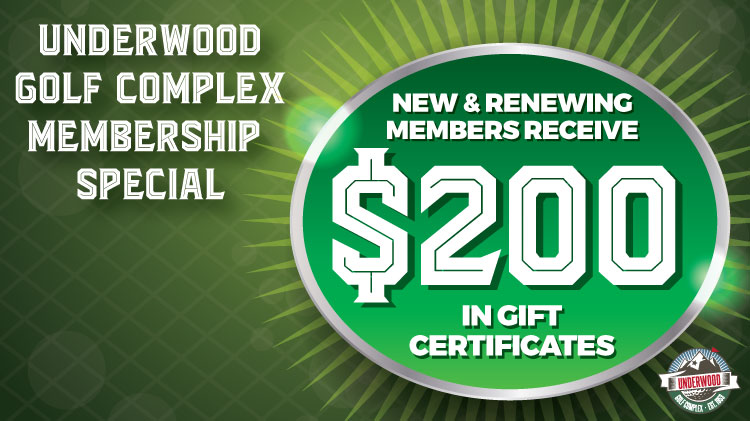 Underwood Membership Special