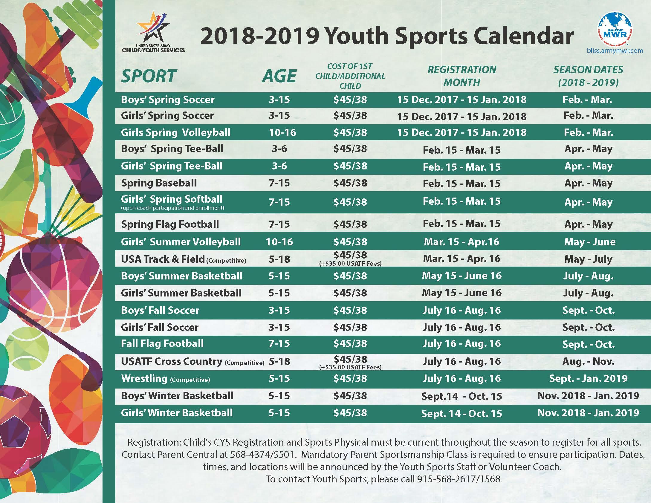 Youth sports plex youthsportscalendar2018g 1betcityfo Gallery