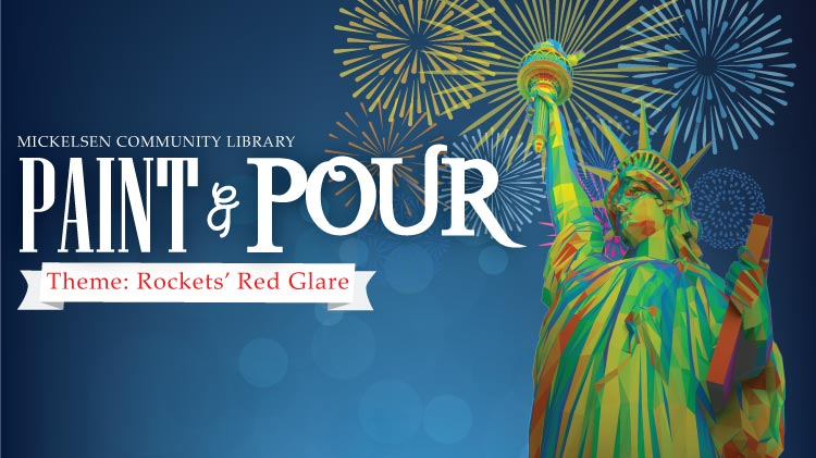Paint & Pour: Rockets' Red Glare