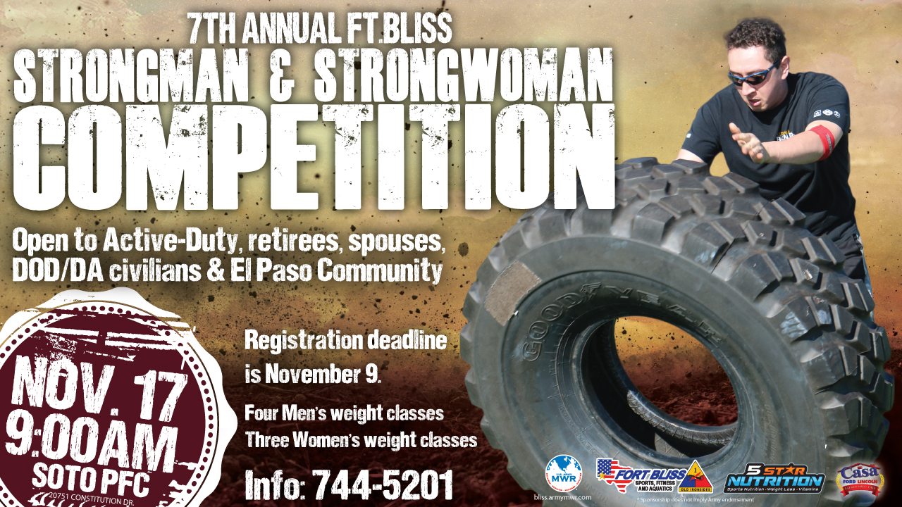 7th Annual Fort Bliss Strongman & Strongwoman Competition